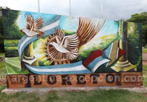 Monument au village de Loreto, Misiones