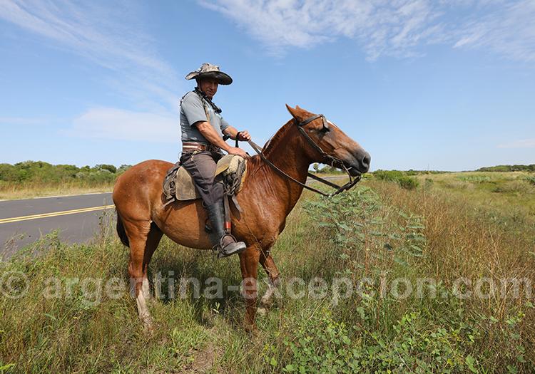 Gaucho de la province de Corrientes, Argentine