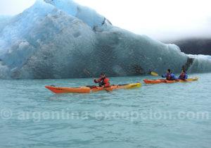 Sortie kayak au Perito Moreno