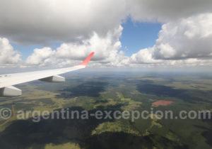 Survol de la région de Corrientes