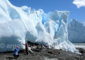 Pause au pied du Perito Moreno