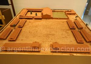 Maquette de la réduction jésuite de San Ignacio Mini