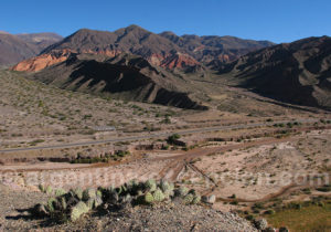 Paysage de la vallée de Humahuaca depuis la Pucará de Tilcara