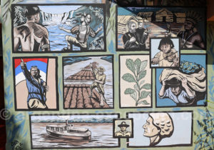 Fresque murale à Puerto Iguazu