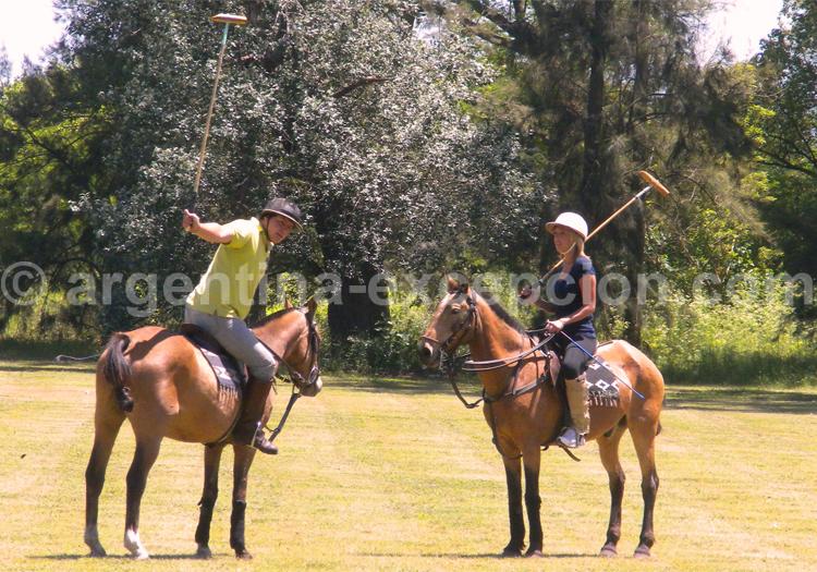 L'enseignement du Polo à une débutante