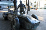 Statue of Fangio in Puerto Madero