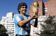 Statue of Maradona in Buenos Aires