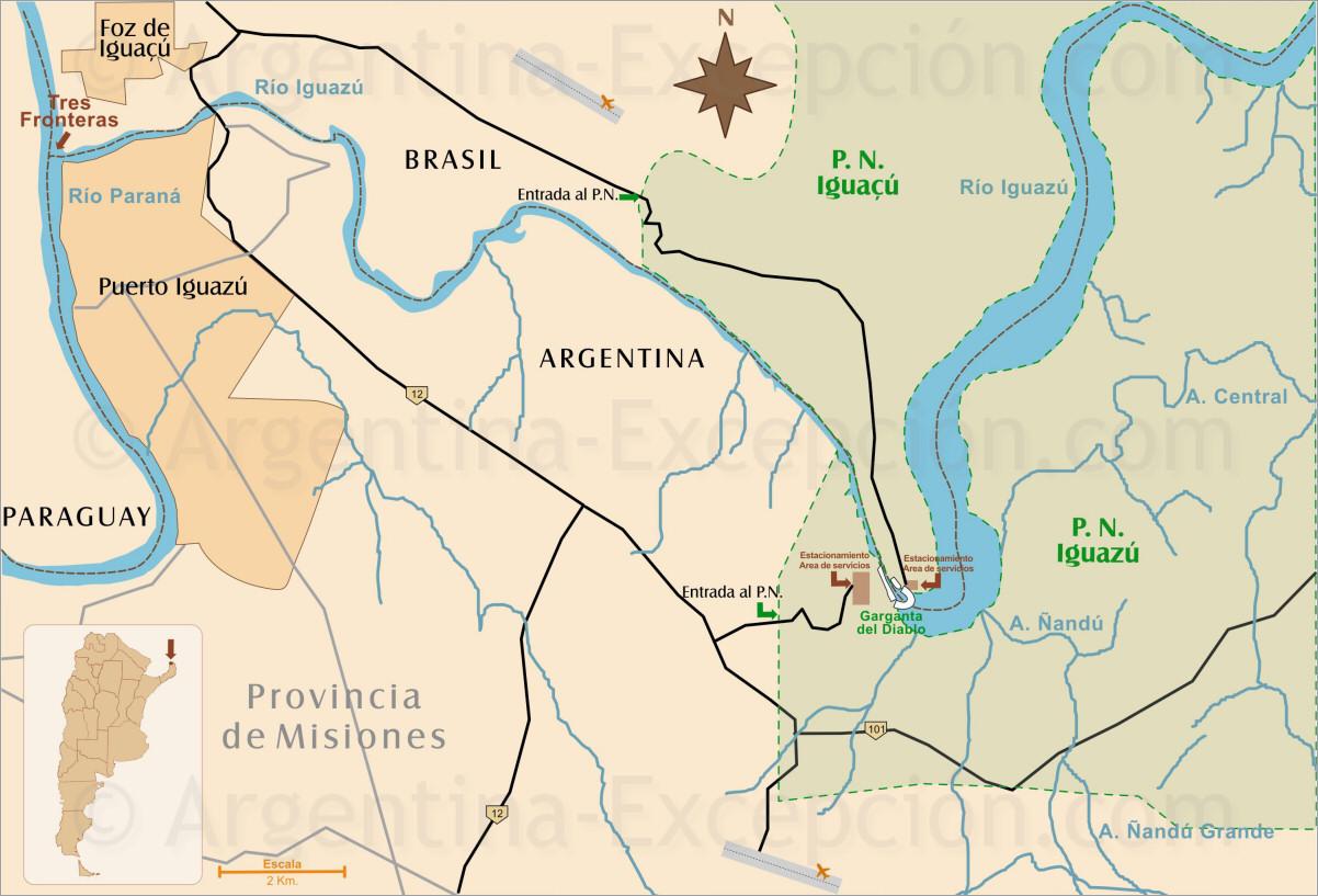 Cataratas De Iguazu Lado Argentino Mapa.Viaje A Medida Cataratas De Iguazu Iguacu Guia Circuitos