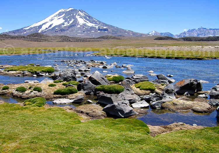 Laguna Diamante et volcan Maipo