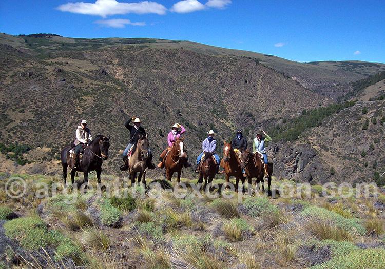 Excursion équestre à l'estancia Quillén
