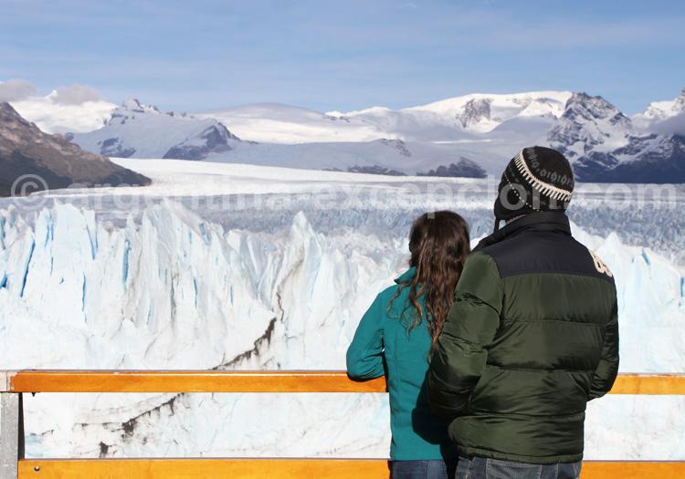 Le glacier Perito Moreno depuis les passerelles
