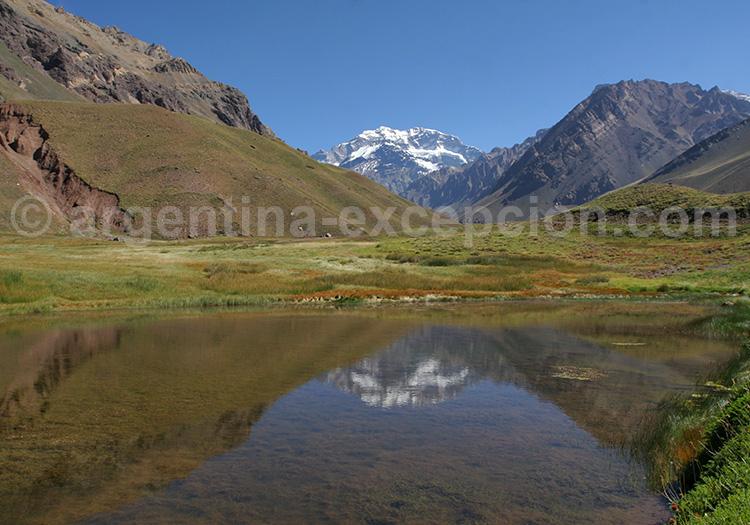 Lagune Horcones et Cerro Aconcagua, Mendoza