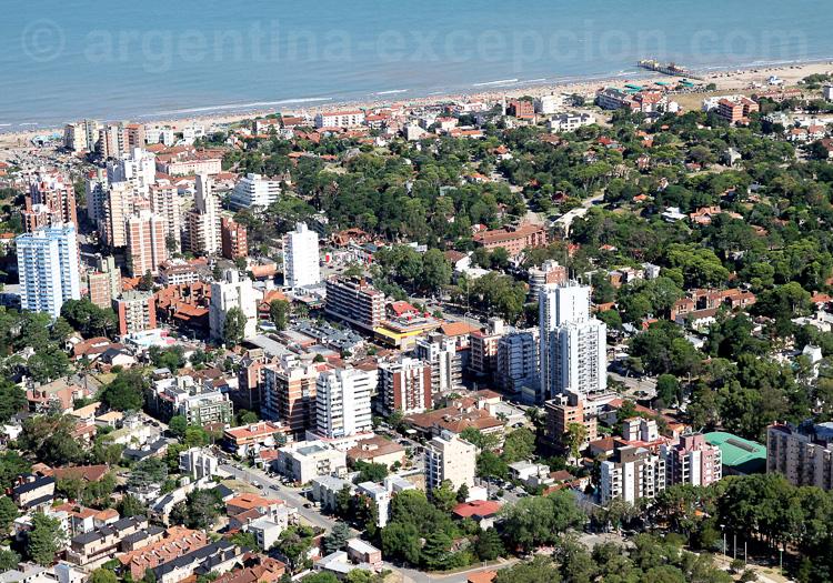 Vue aérienne de Pinamar. Crédit Secretaria de Turismo de Pinamar