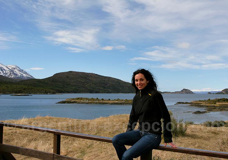 Pause face à la baie de Lapataia, parc Terre de Feu