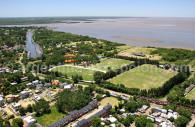 Río de la Plata y Buenos Aires, vistos del cielo