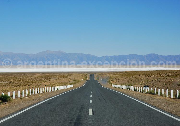Vue à l'horizon de Salinas Grandes