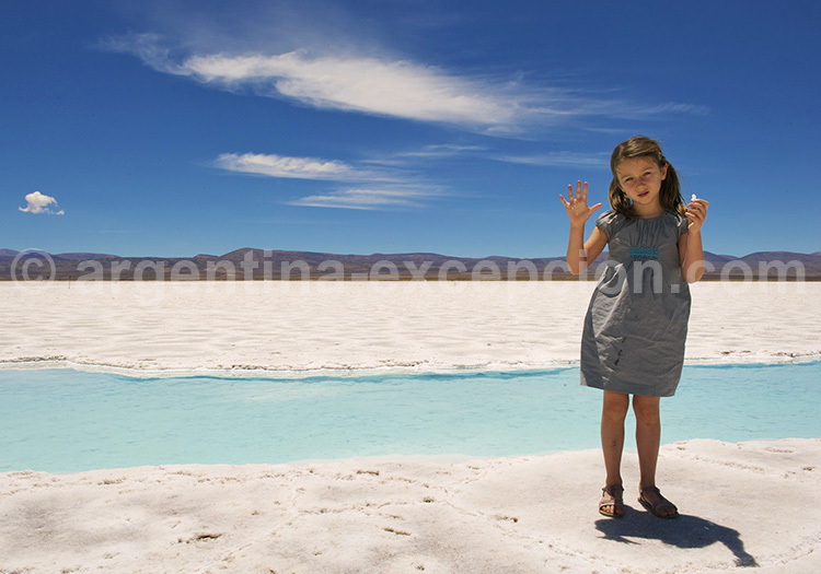 Visite de Salinas Grandes en famille, Bassin de sel