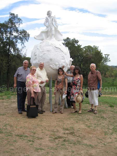 Devant le monument du principito à Rosario