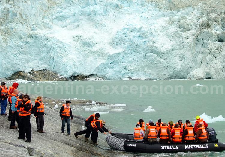 Glacier Pia, Patagonie