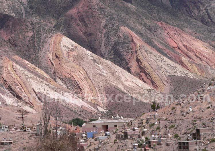 Palette du peintre, Maimara, Quebrada de Humahuaca, Noroeste Argentin
