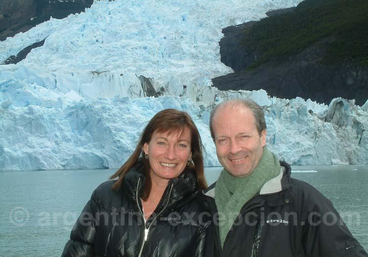 Pose sur le Lago Argentino