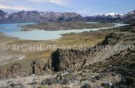 Vue sur le lago Belgrano, Parc Perito Moreno