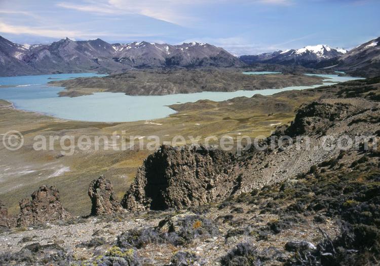 Vue sur le lac Belgrano, parc Perito Moreno