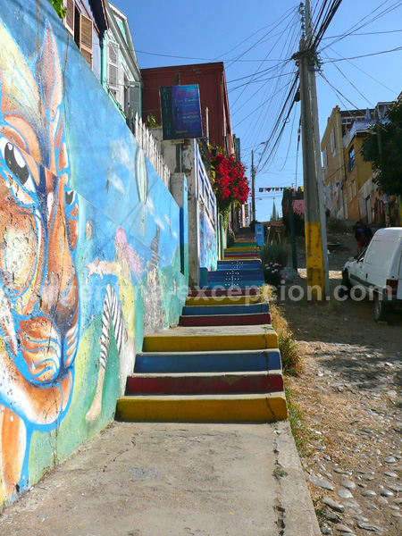 Les ruelles de Valparaiso, Chili