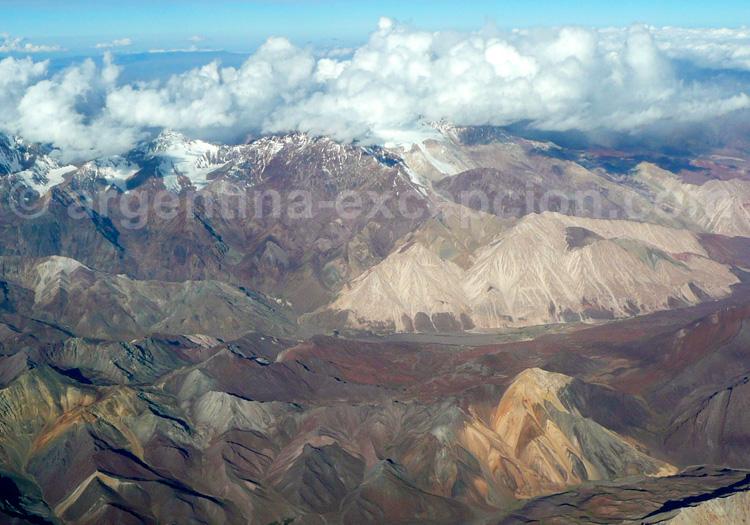 Survol de la cordillère des Andes