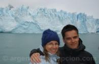 Devant le Perito Moreno