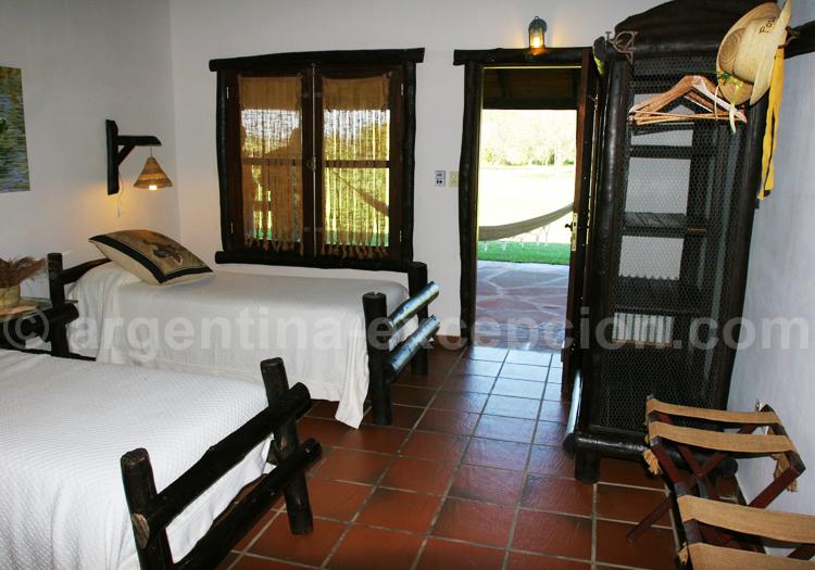 Chambre twin, Posada Aguape