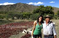 Aji secando en un pueblo, Salta