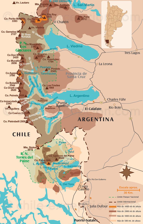 Circuito W Mapa : Viaje a medida torres del paine chile: guía & circuitos