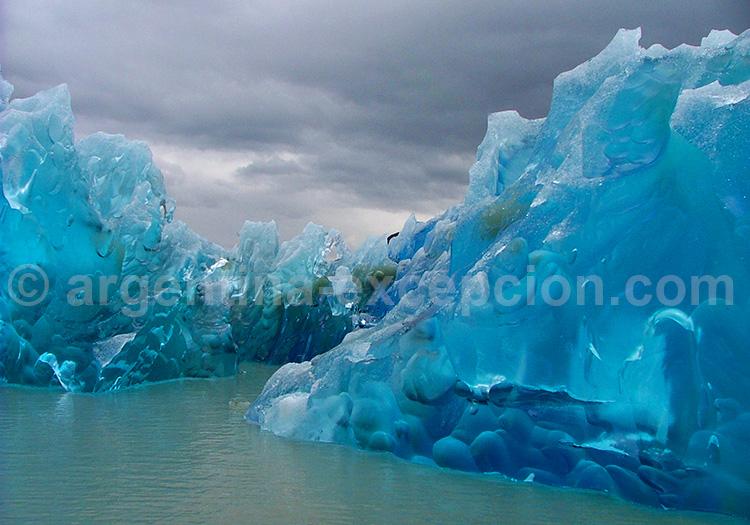 Les glaces du glacier Grey