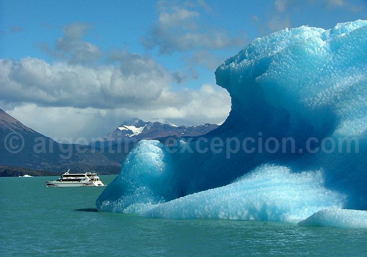 Excursion nautique, lago Argentino