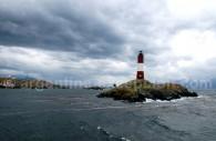 Le phare des éclaireurs, sur le canal Beagle près d'Ushuaïa