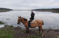 À cheval le long du fleuve Paraguay