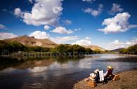 Momento de relaxacion en Patagonia