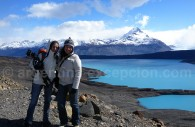 Pose devant le lago Argentino