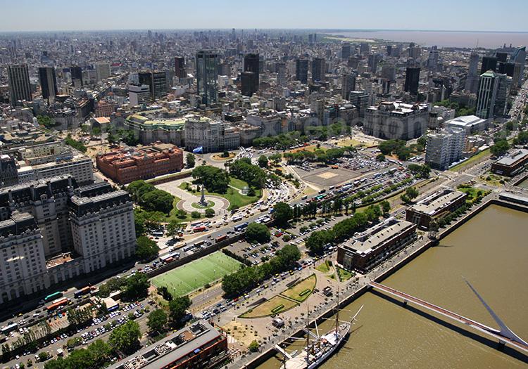 Vue aérienne de Puerto Madero, Buenos Aires