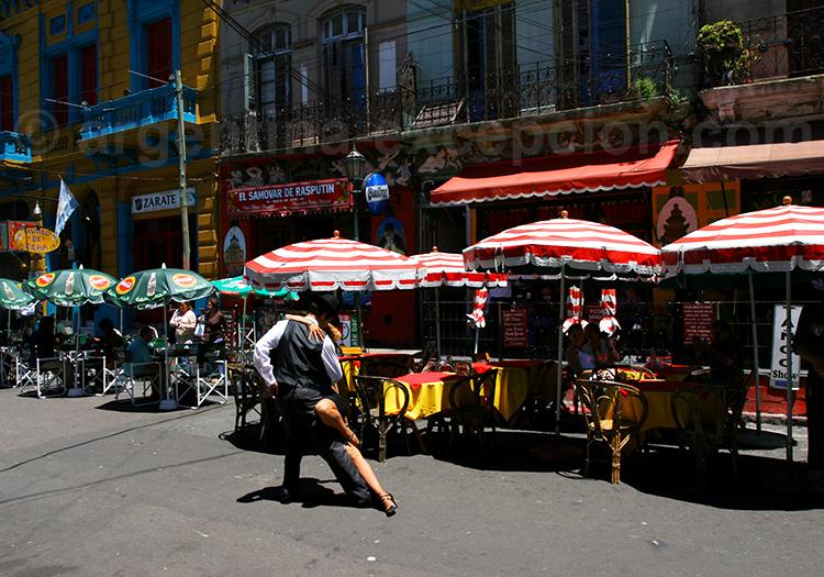 Tango dans les rues de La Boca