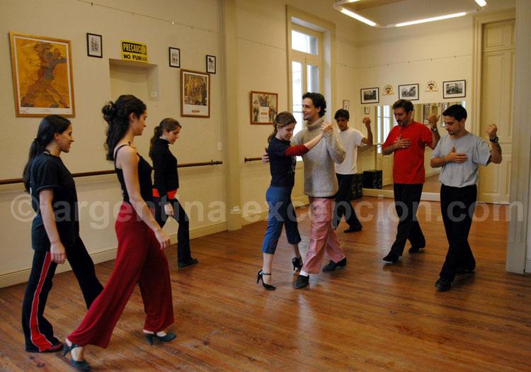 Cours au complejo Tango