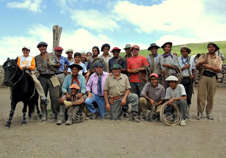 Equipe de gauchos de l'estancia Los Potreros, Córdoba