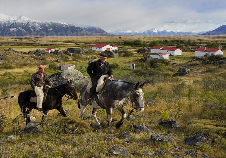 Randonnée équestre, estancia La Anita, Patagonie