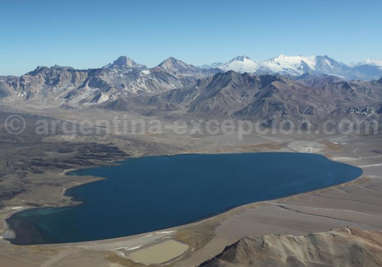 Laguna Diamante, vue aérienne