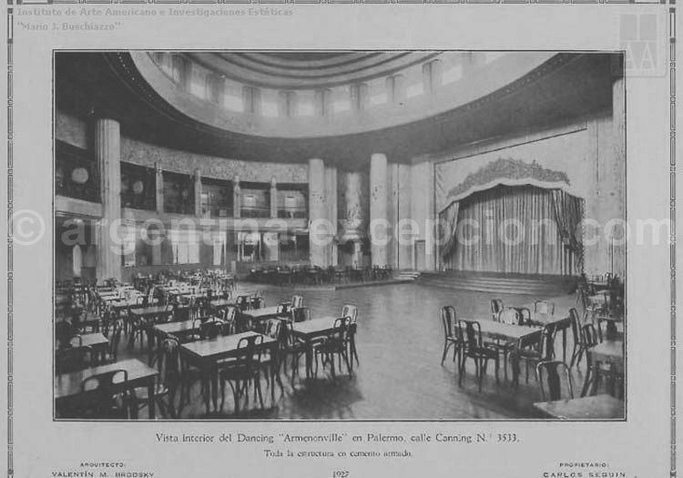 Cabaret El Armenonville, 1927, Buenos Aires