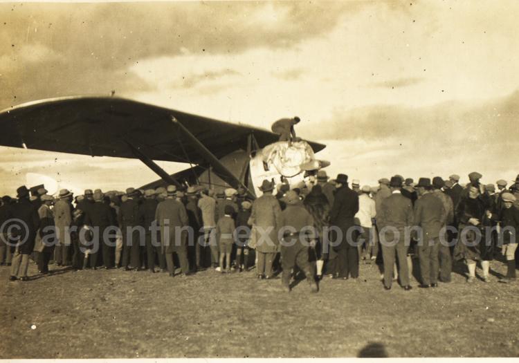 L'accueil en Patagonie. Archive Gilbert Pellaton