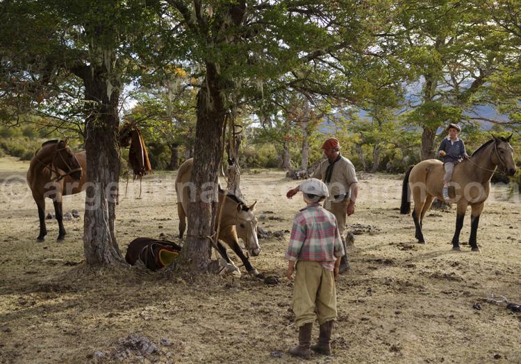 Apprentissage gaucho, estancia Tres Valles