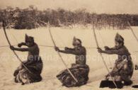 Alacalufes archers in Tierra del Fuego - Ambrosetti museum