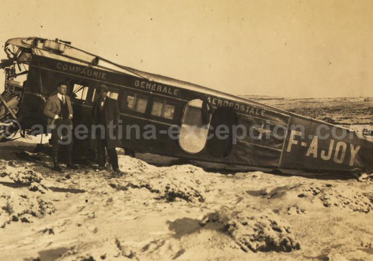 Avión Laté 28 accidentado. Próspero Palazzo. Archive Gilbert Pellaton